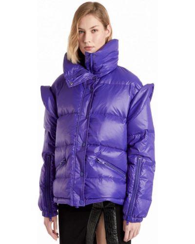 Фиолетовая куртка с подкладкой с перьями Manila Grace