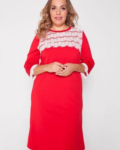 Красное вязаное платье Eliseeva Olesya