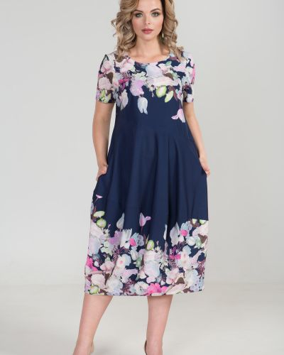 Летнее платье в стиле бохо с цветочным принтом марита
