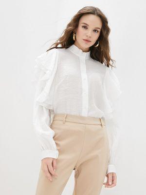 Блузка с рюшами - белая Adzhedo