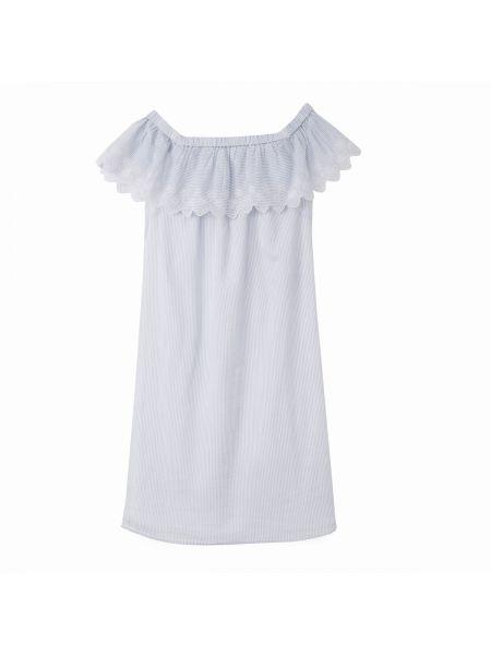 Платье мини в полоску макси Vila