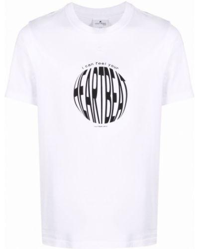 Biała t-shirt bawełniana Courreges