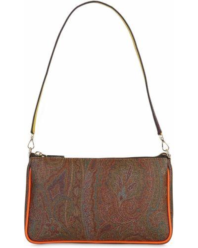 Кожаная сумка с узором пейсли Etro
