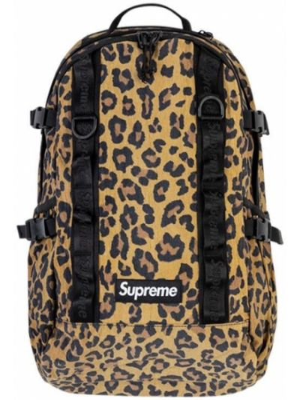 Brązowy plecak z nylonu z printem Supreme