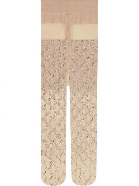 Rajstopy elastyczny z haftem Gucci