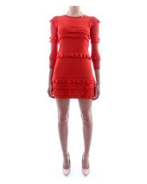 Pomarańczowa sukienka mini Mangano