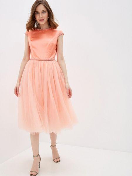 Вечернее платье коралловый на тонких бретелях Nothing But Love