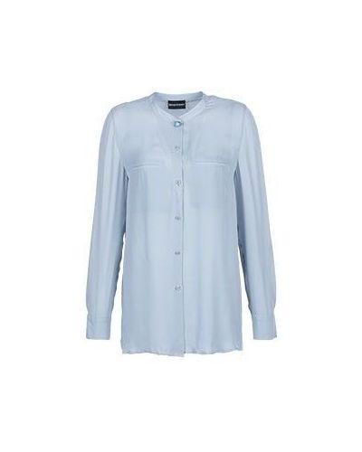 Серая блузка вечерняя Emporio Armani