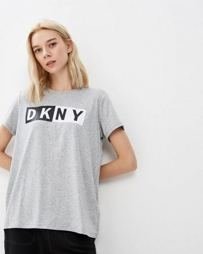 Серая футболка 2019 Dkny