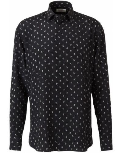 Czarna koszula na co dzień zapinane na guziki Saint Laurent