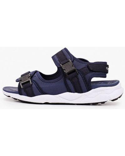Синие текстильные сандалии Crosby
