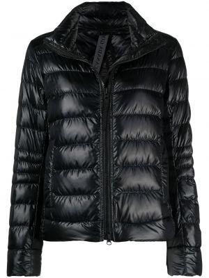 Пуховая черная стеганая дутая куртка Canada Goose