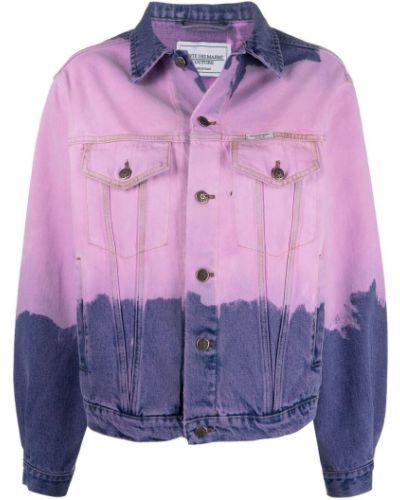 Хлопковая розовая куртка с воротником Forte Dei Marmi Couture