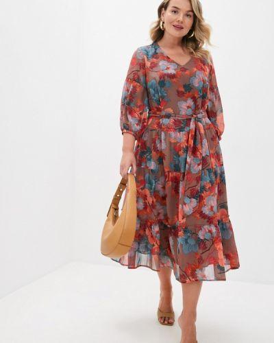 Повседневное коричневое повседневное платье Intikoma