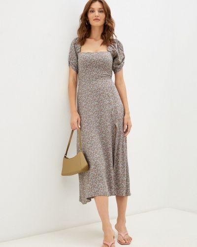 Прямое платье - серое Imocean
