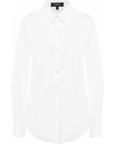 Блузка с длинным рукавом приталенная белая Theory