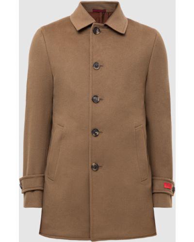 Шерстяное пальто - бежевое Isaia