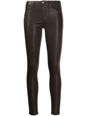 Облегающие зауженные джинсы - коричневые L'agence