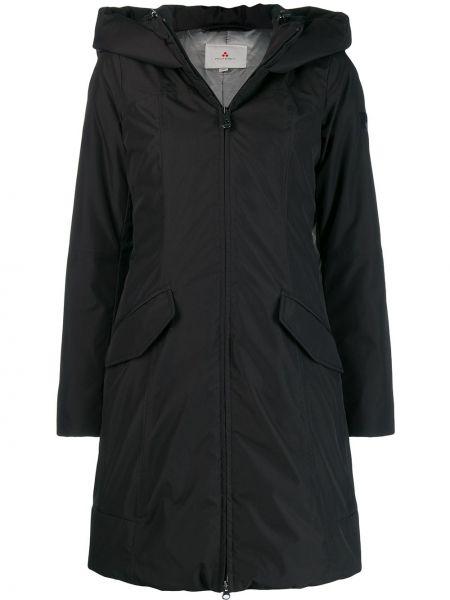 Пальто с капюшоном черное Peuterey