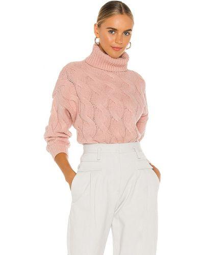 Розовый свитер винтажный с декольте Line & Dot