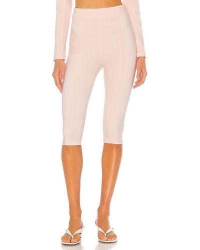 Włókienniczy różowy spodnie capri z zamkiem błyskawicznym rozciągać Lovers + Friends
