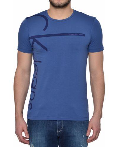 Футболка хлопковая синий Calvin Klein Jeans