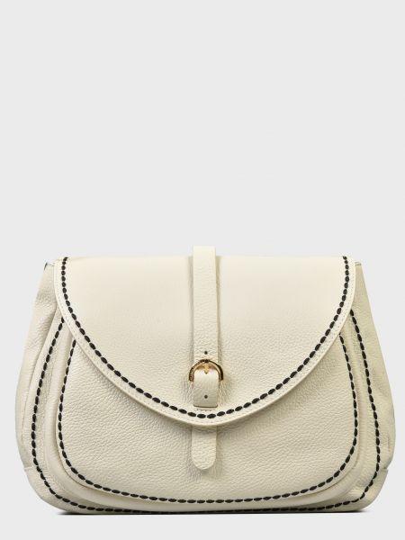 Кожаная сумка - белая Plinio Visona'