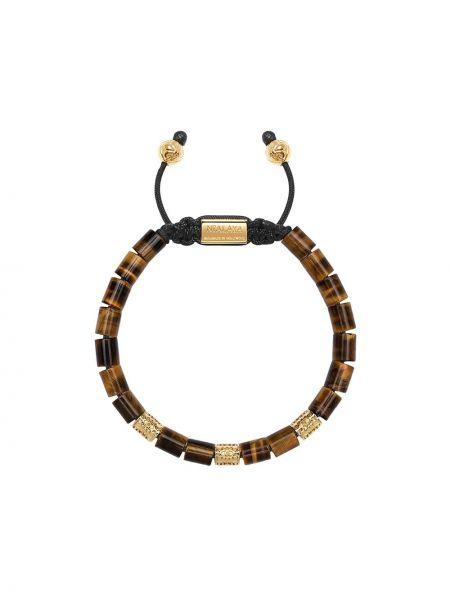 Szara złota bransoletka ze złota pozłacana Nialaya Jewelry