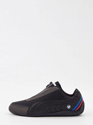 Черные кожаные кроссовки Puma