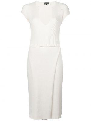 Приталенное трикотажное белое платье Cashmere In Love