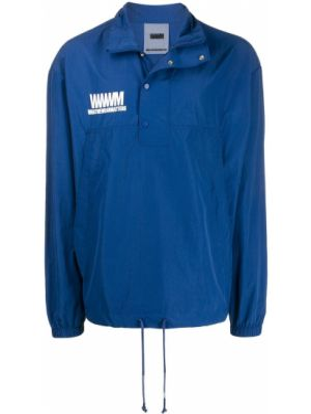 Нейлоновая синяя куртка с манжетами Wwwm