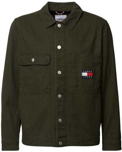 Zielona kurtka jeansowa bawełniana Tommy Jeans