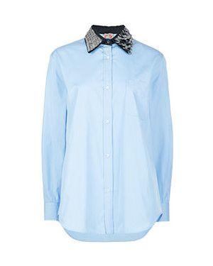 Хлопковая рубашка - голубая No.21