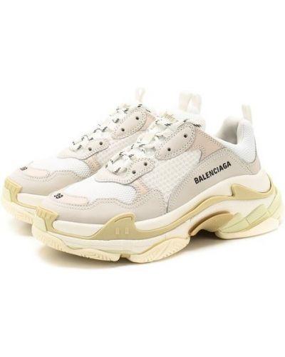Кожаные кроссовки белый Balenciaga