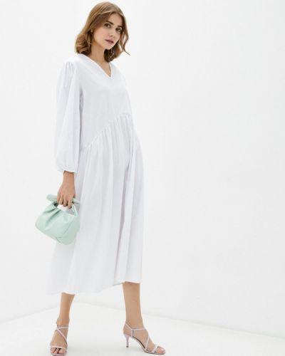 Прямое белое платье Imocean
