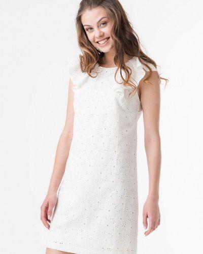 Белое повседневное платье Ricamare