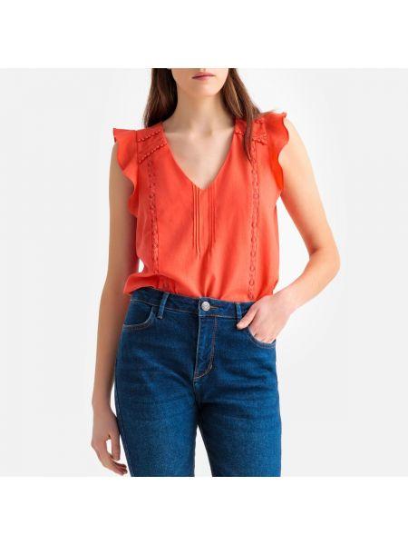 Блузка с короткими рукавами - оранжевая Sud Express