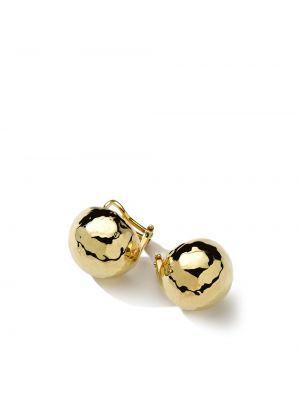Облегченные золотистые золотые серьги золотые Ippolita