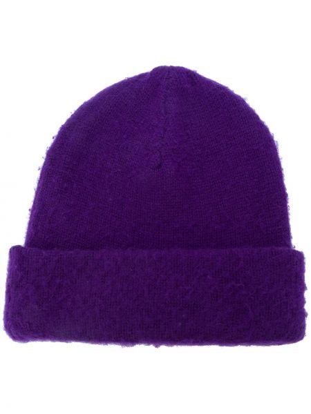 Fioletowa czapka wełniana Acne Studios