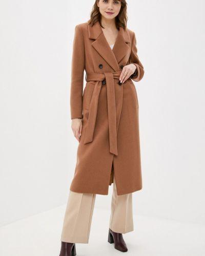 Коричневое пальто двубортное Avalon