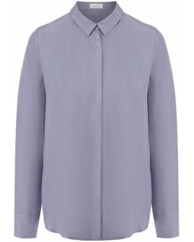 Шелковая рубашка - фиолетовая Van Laack