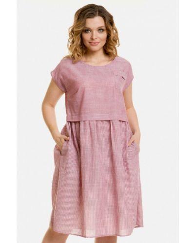 Повседневное розовое платье Venusita