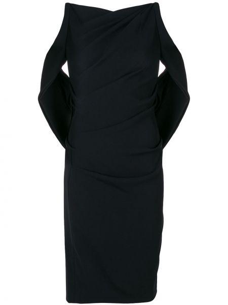 Приталенное черное платье Talbot Runhof