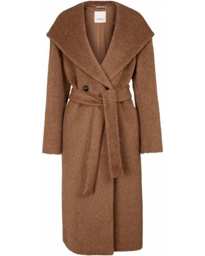 Brązowy płaszcz zimowy S Max Mara