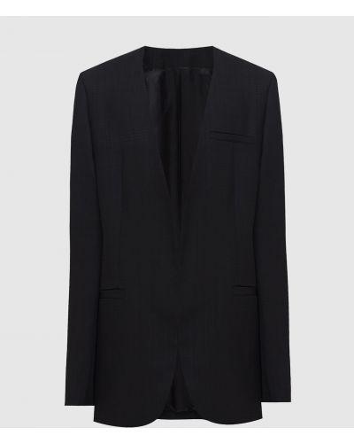 Черный пиджак с V-образным вырезом Toteme