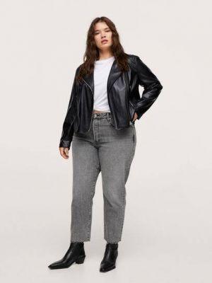 Черный пиджак из полиэстера Mango