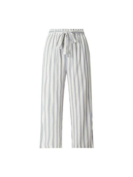 Niebieskie spodnie w paski Only