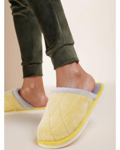 Kapcie materiałowe - żółte Renee