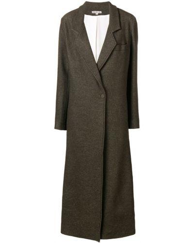 Длинное пальто с капюшоном на пуговицах Edeline Lee