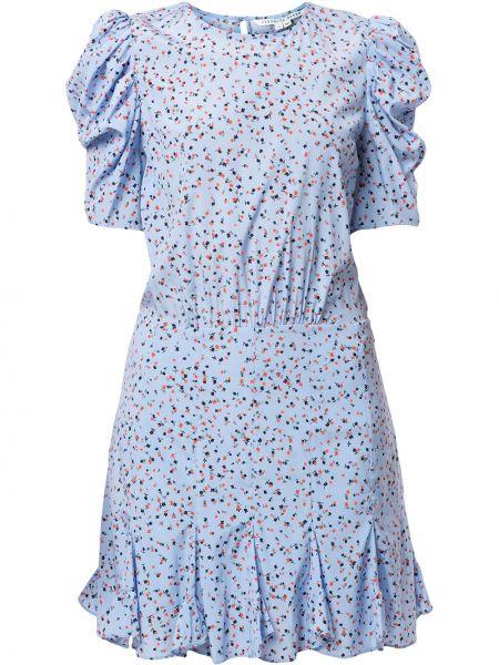 Синее платье мини со вставками с короткими рукавами с подкладкой Veronica Beard